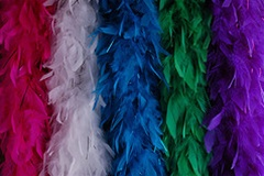Chandelle Feather Boas from eskayfeathers.com
